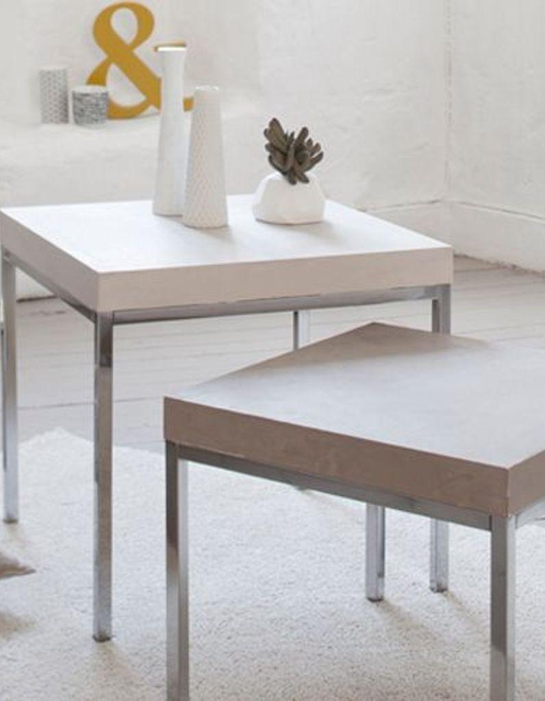 Table En Béton Ciré Et Bois un aspect béton ciré pour ma table ! - elle décoration
