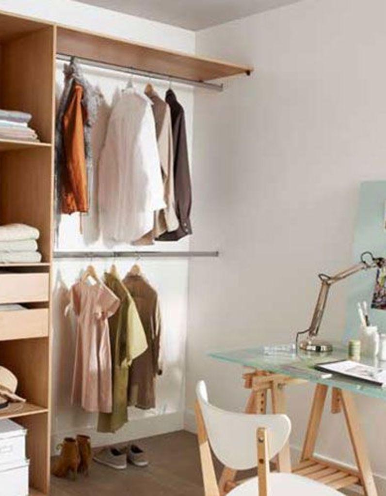 Comment Fabriquer Un Dressing Sur Mesure créer un dressing quand on n'a pas la place - elle décoration