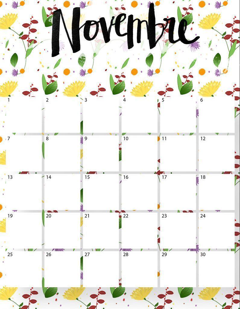 Calendrier Novembre Téléchargez Gratuitement Votre Calendrier Du Mois De Novembre Elle