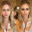 Avant / après le maquillage doré
