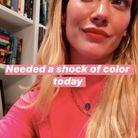 Le rouge à lèvres rose d'Hilary Duff