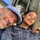 Tina Kunakey sans maquillage avec Vincent Cassel
