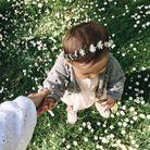 Coiffure petite fille baptême