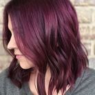Cheveux violets burgundy