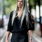 Cheveux longs blond glacé automne-hiver 2018