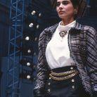 Cristina Cordula à la Paris Fashion Week en 1986