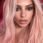 Les cheveux rose gold d'Emily Ratajkowski