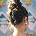 Piercings cheveux avec chignon