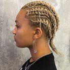 Piercings cheveux coupe courte