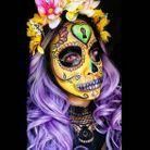 "Le squelette mexicain ""Catrina"" de @glitzglamandgore"