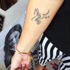 Le tatouage d'Elodie, responsable de la rubrique people