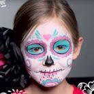 Maquillage d'Halloween pour enfant : Dia de Los Muertos