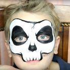 Maquillage d'Halloween pour enfant : squelette