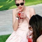 Beaute people maquillage vernis ongle fluo pop Agyness Deyn 16 avril Coachella Music  Festival