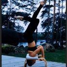 Laury Thilleman et sa séance de yoga
