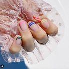 Le rainbow nails