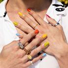 Squoval nails en manucure tutti-frutti