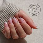 Squoval nails et french manucure classique