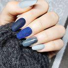 La manucure velvet nails bleue