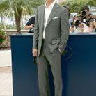 Brad Pitt et son costume gris à Cannes en 2007