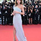 Carla Bruni en robe fendue Celine