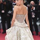 Natacha Poly en robe bustier au Festival de Cannes