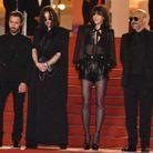 Anthony Vaccarello, Béatrice Dalle, Charlotte Gainsbourg et Gaspar Noé sur les marches