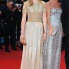Léa Seydoux en robe Gucci accompagnée de Frida Gannini au Festival de Cannes en 2010