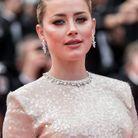Le maquillage rock d'Amber Heard à Cannes
