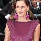 Le maquillage violet assorti à sa robe d'Izabel Goulart à Cannes