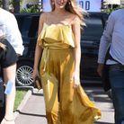 Le combi-pantalon dorée