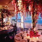 Le décor mis en place à l'occasion de la soirée ELLE Dior