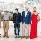 """Woody Allen et l'équipe de """"Café Society"""""""