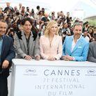 Cate Blanchett entourée d'Andrey Zviaguintsev, Chang Chen, Denis Villeneuve et Robert Guédiguian.