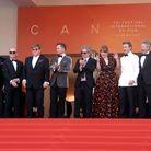 Toute l'équipe du film Rocketman avec Elton John