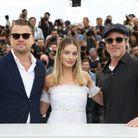 Leonardo DiCaprio, Margot Robbie et Brad Pitt