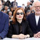 Isabelle Huppert aux côtés d'Ira Sachs et Pascal Greggory