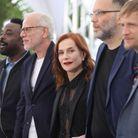 Isabelle Huppert avec l'équipe du film