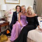 Sharon Stone et son fils Roan avant le gala de l'amfAR