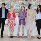 "Gaspard Ulliel, Melanie Thierry, Lily-Rose Depp, Soko et Stephanie Di Giusto au photocall de ""La Danseuse"""