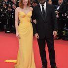 Jessica Chastain en Giorgio Armani Privé et Vincent Lindon