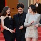Marion Cotillard (en Jean Paul Gautier), Louis Garrel et Charlotte Gainsbourg (en Saint Laurent par Anthony Vaccarello)