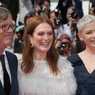 Todd Haynes, Julianne Moore et Michelle Williams (en Louis Vuitton) à la première cannoise de Wonderstruck de Todd Haynes