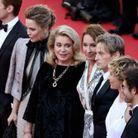 Les acteurs du film « De son vivant » à Cannes