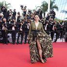 Nathalie Péchalat sur le tapis rouge de Cannes
