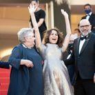 """L'équipe du film """"Aline"""" à Cannes"""