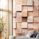 Papier peint effet cubes de papier !