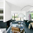 Maison noir et blanc salon
