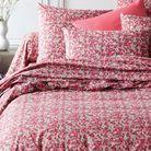 Du linge de lit très fleuri