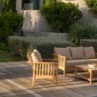 Fauteuil outdoor inclinable en bois